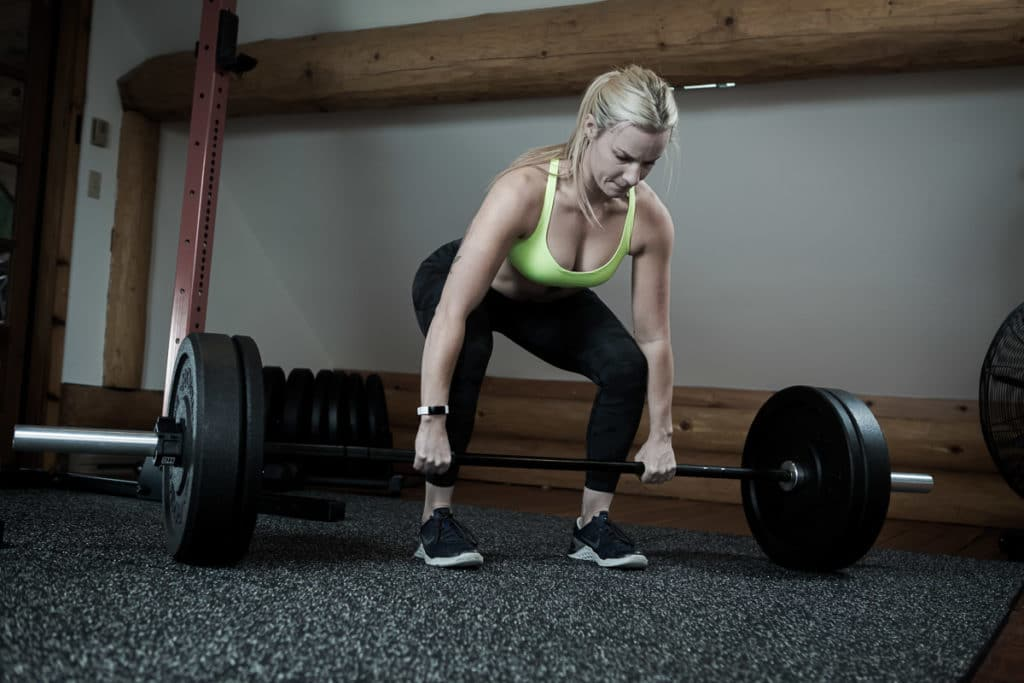 Amanda working out at Realignment Lab Whistler